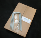 Heavy Duty Galvanised U Pins ( Box 100 ) 180mm x 80mm x 180mm x 6mm Ribbed